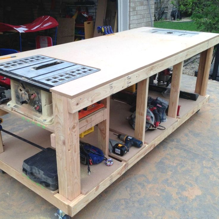 Woodworking Bench Plans Designs no. 704 Easy Woodworking Bench Projects For Garage Spaces  #woodworking_bench #woodshop_layouts