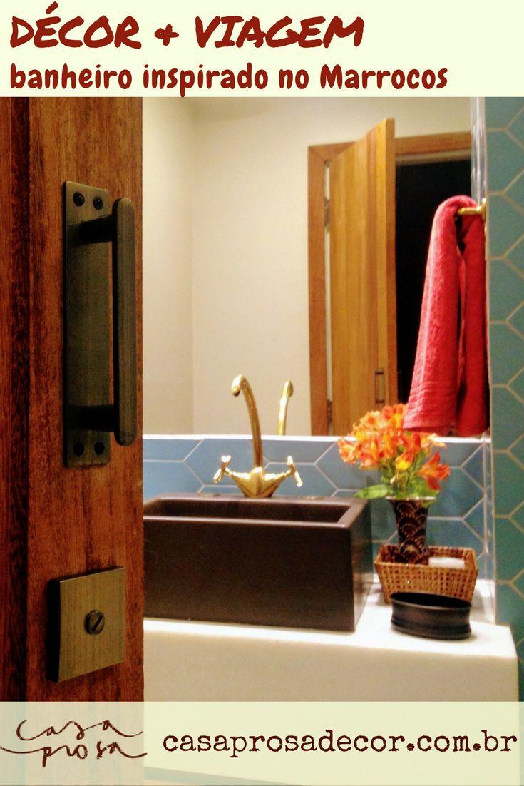 Uma viagem incrível, uma torneira trazida na bagagem e fez-se a inspiração para a reforma deste banheiro. Vem conhecer pra ver que dá pra ter memória afetiva até no banheiro :)