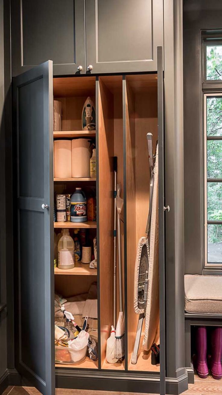 40 Best Broom Closet Images On Pinterest Broom Storage