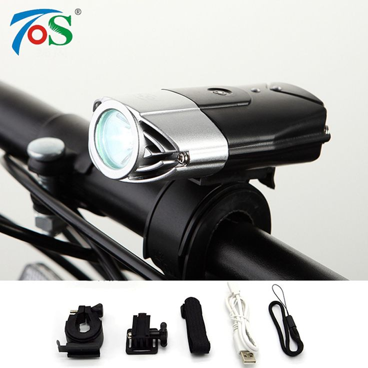USB Oplaadbare Bike Front Light Fiets Accessoires Zaklamp Lithium Batterij High Power Fietsen LED Head Light Waterdicht