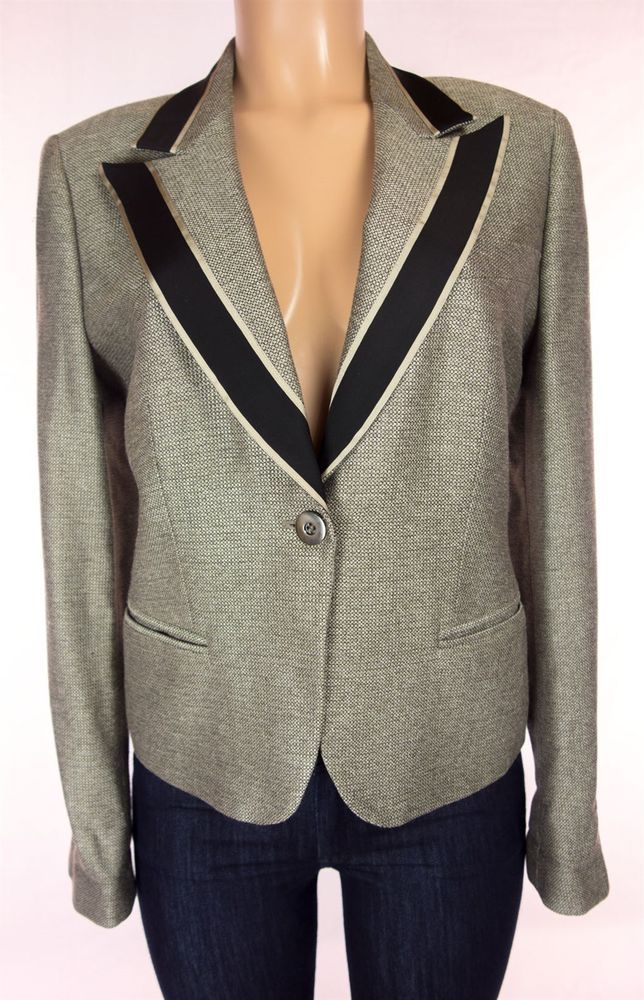 GIORGIO ARMANI Blazer Size 46 L Large 100% Silk Borgo 21 SPA Wear To Work Jacket #GiorgioArmaniBorgo21SPA #Blazer