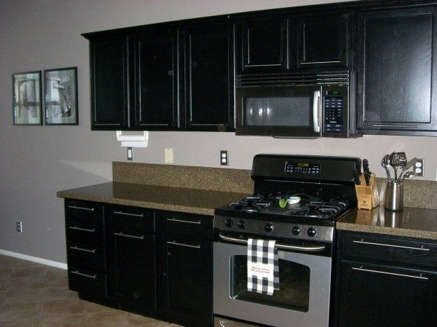Marvelous Painting Black Kitchen Cabinets Design Inspirations