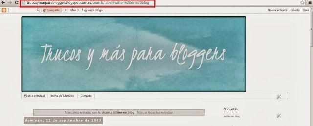 Trucos para blogger: Dos maneras de poner nuevas Pestañas