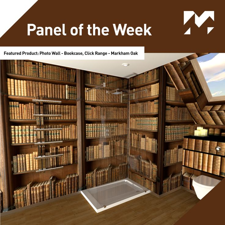 Panel of the Week! This week our featured #paneloftheweek is Photo Wall: Bookcase, Markham Oak floor panels, part of our Click Range.
