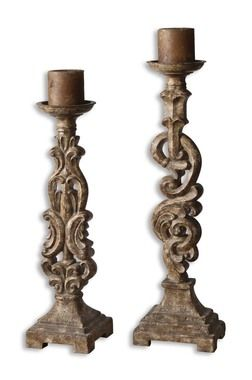 Gia, Antiqued Light Mocha Brown Candle Holders, Set Of 2   This Set Of 2 Candle Holders Features A Heavily Distressed And Antiqued, Light Mocha Brown Finish With An Aged Ivory Glaze. Antiqued Candles Included.  $217.80  Available at: http://www.essentialsinside.com/gia-antiqued-light-mocha-brown-candle-holders-set-of-2/