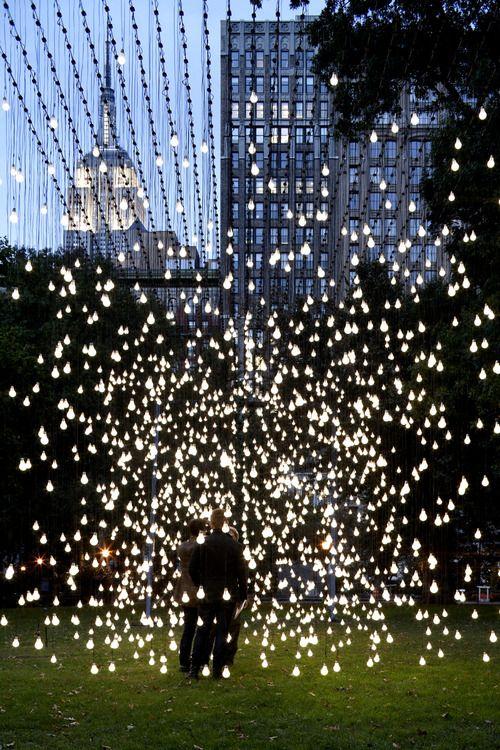 light installation by jim campbell