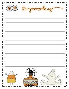 Halloween Writing paper