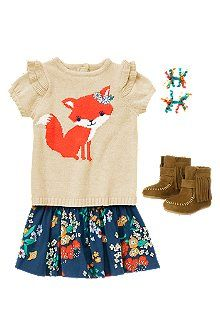 Baby Fox outfit, how cute is this!