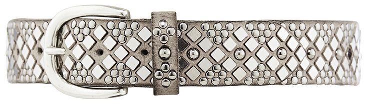 11226 jeans belt, 4 cm, winter grey.