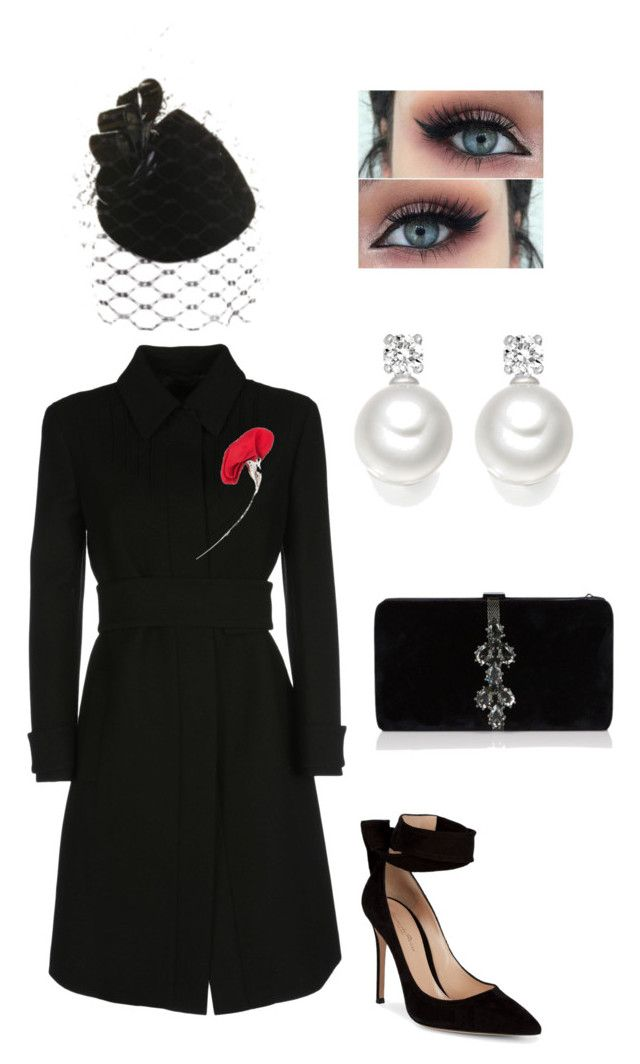 """""""Untitled #596"""" by lovelifesdreams on Polyvore featuring Philip Treacy, Prada, Tiffany & Co., Gianvito Rossi and Dsquared2"""