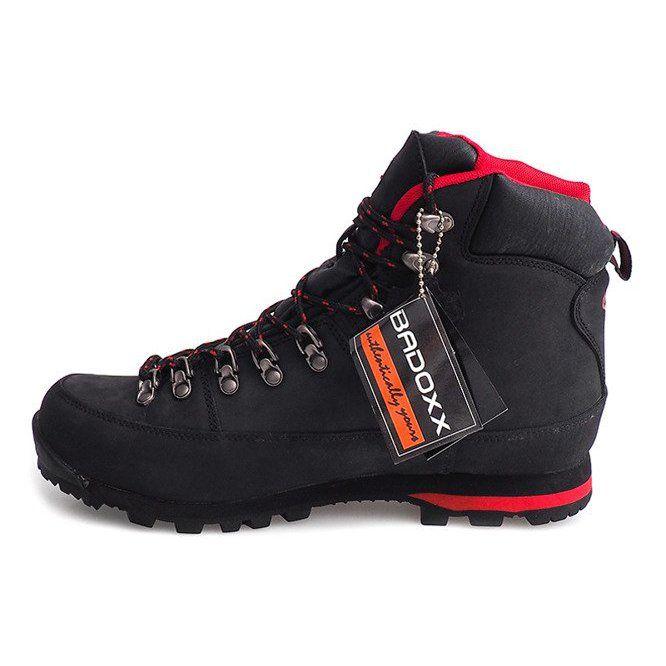 Profesjonalne Obuwie Trekkingowe 6540 Czarny Czarne Boots Hiking Boots Shoes