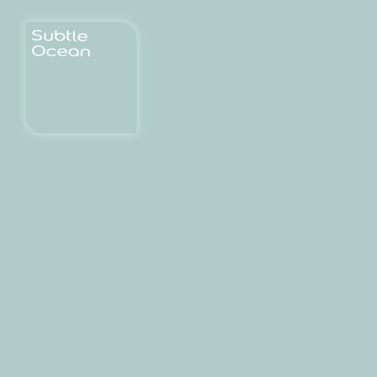 Pure by Flexa Colour Lab® kleur: Subtle Ocean. Verkrijgbaar in verfspeciaalzaken.