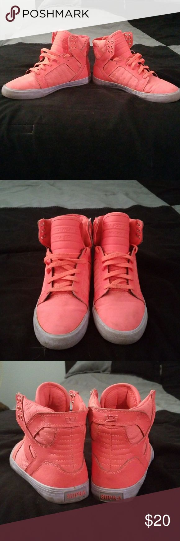 Damon colored supras High top samon colored supra shoes, super comfy only wore a few times Supra Shoes Sneakers