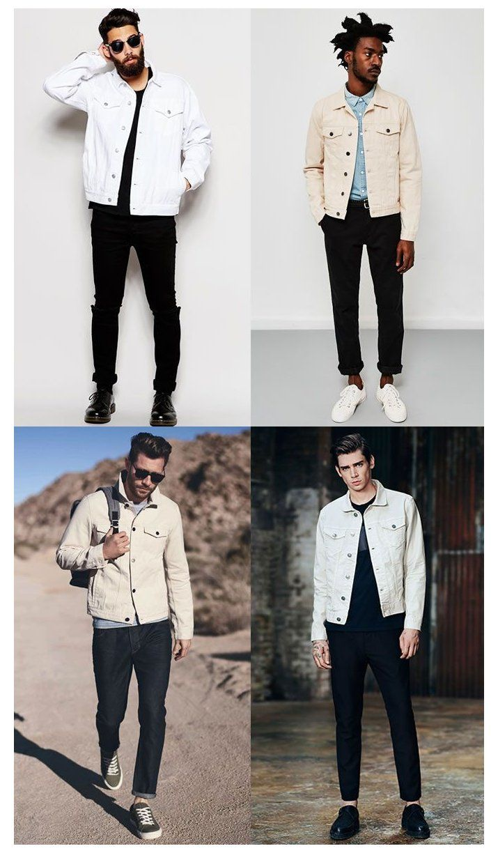 The New Rules Of Double Denim White Jacket Outfit Men Whitejacketoutfitmen The Quest In 2021 White Denim Jacket Outfit White Denim Jacket Mens White Jacket Outfit [ 1224 x 715 Pixel ]