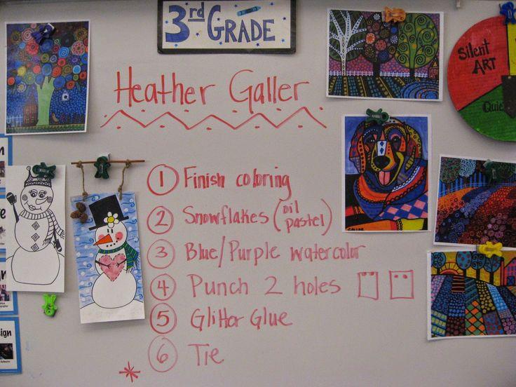 Jamestown Elementary Art Blog 3rd Grade Heather Galler Folk Art Snowmen