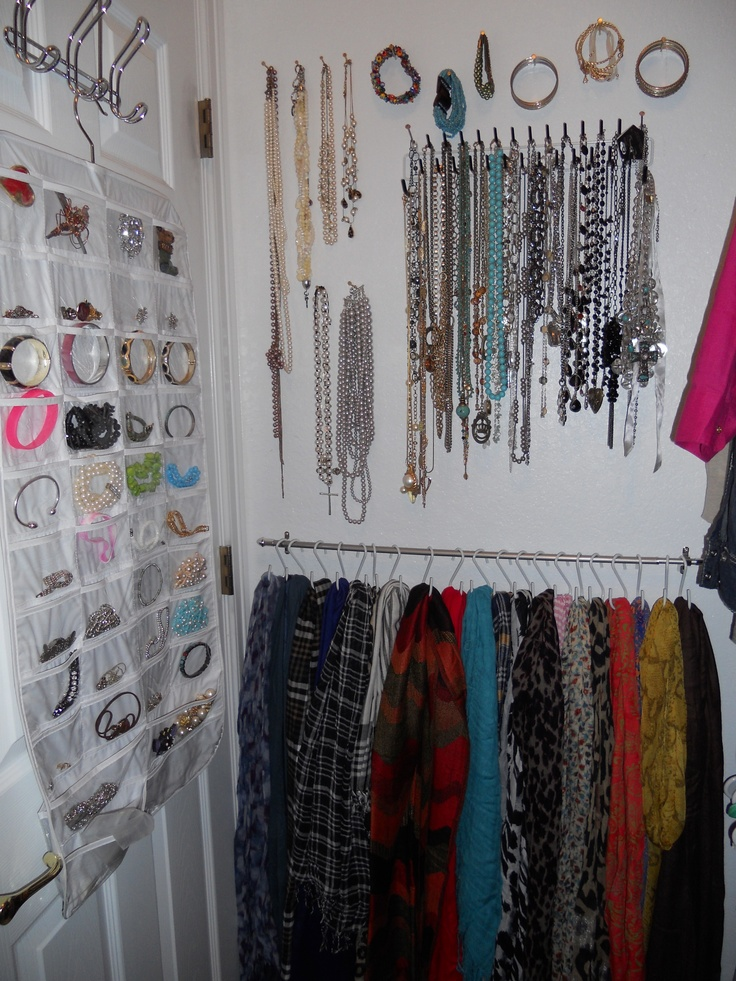 Jewelry Tie Rack Scarves Cheap Curtain Rod And S Hooks From Plant Department Super