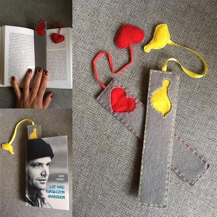 #niezchinzpasji #zakladkadoksiazki #zakladka #filc #szycie #nasprzedaz #sprzedam #kochamczytać #bookmark #ptaszek #bird #serce #heart #design #robotkireczne #handmade #instacraft #forsale