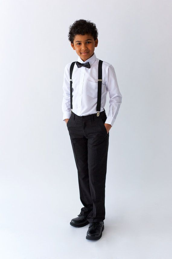 Hey, I found this really awesome Etsy listing at https://www.etsy.com/au/listing/489386158/boys-black-suit-pants-page-boy-out