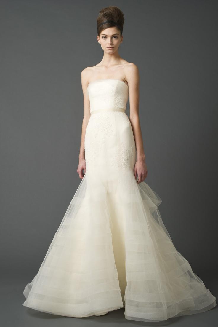 Vera Wang style Georgina. Vera Wang gowns are sold at The Bridal Salon at Saks Jandel.