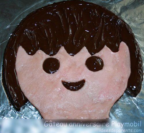 Gâteau anniversaire enfants playmobil