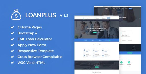 Loanplus Loan Credit Company Html Template Credit Companies