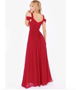 ladies long chiffon dress
