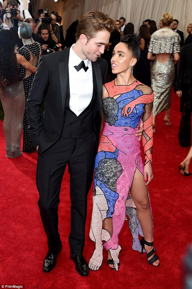 That's one way to get noticed: FKA twigs wore an erotic dress featuring saucy body parts a...