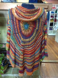 OODLES OF FREE HIPPIE JACKETS ALL SIZES AND STYLES!!! Pinwheel Crochet Cardigan