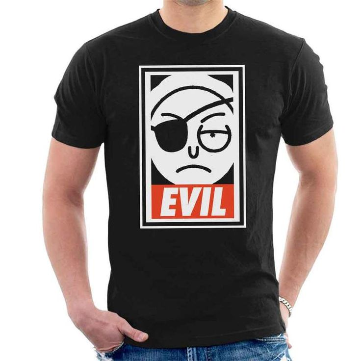 Evil Morty Obey Rick And Morty Men's T-Shirt