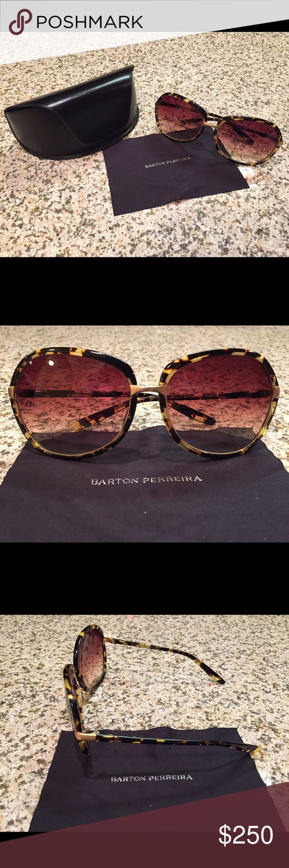 Barton Perreira Sunglasses Barton Perreira tortoise shell sunglasses in fantastic condition. Original case and glasses wipe included. Barton Perreira Accessories Sunglasses