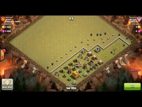 Clash of Clans TH6 vs TH4 Archer Clan War 3 Star Attack ⋆ Clash of Clans 3 Stars Clan Wars
