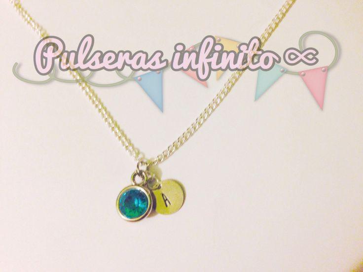 Quiero compartir lo último que he añadido a mi tienda de #etsy: Collar personalizable con inicial y piedra de nacimiento /necklace with initials customized, engraved