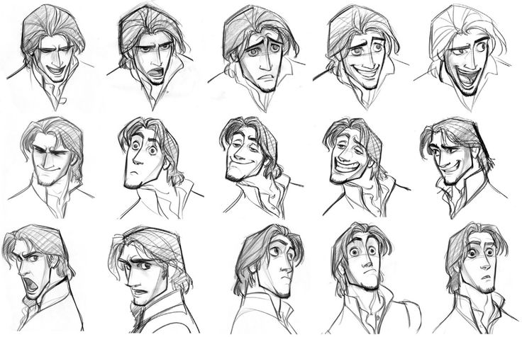 "Concept art of Flynn by Jin Kim for Disney's ""Tangled"" (2010)."