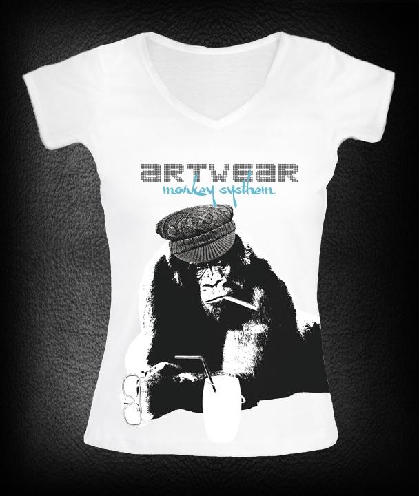 t-shirt femme Monkey Gorille   P-plum