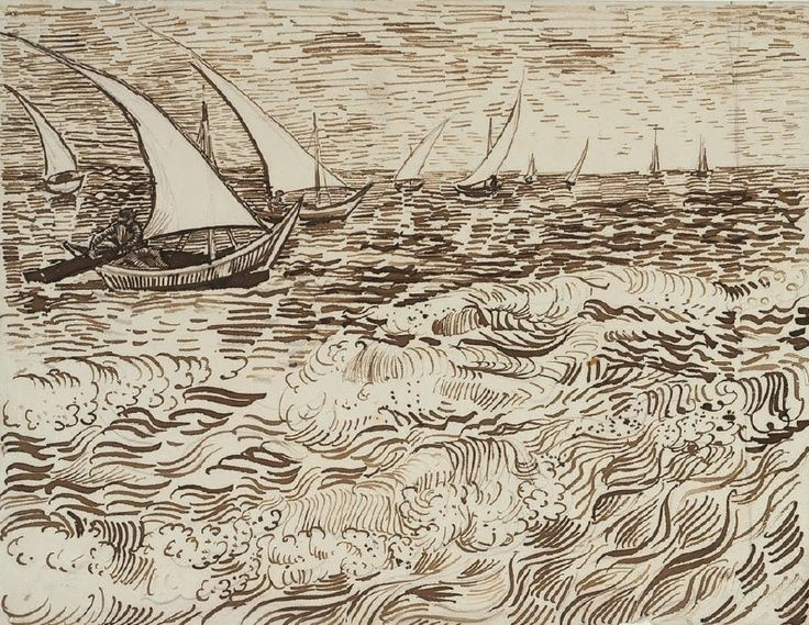 vangogh line painting sketches - Google Search