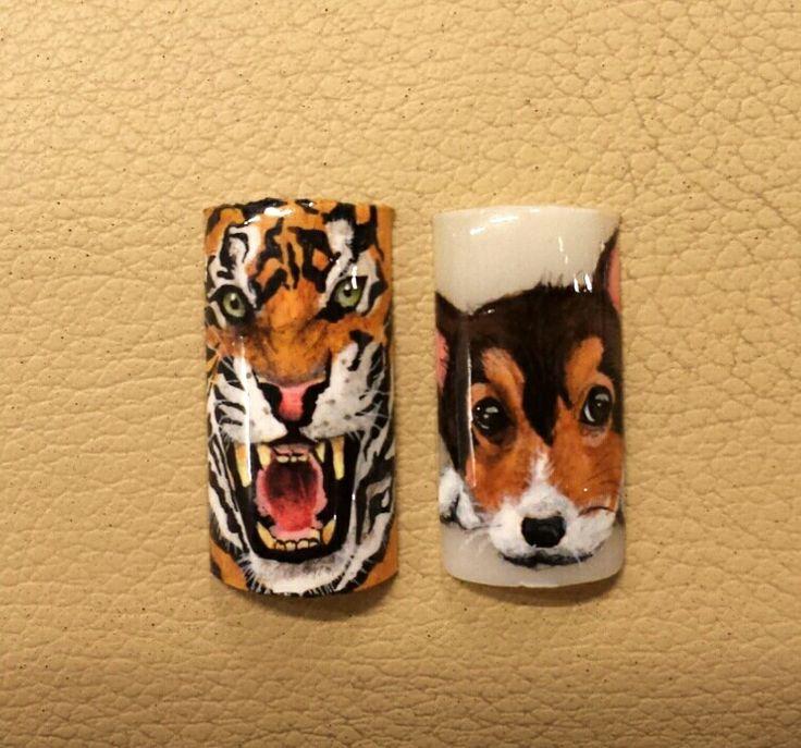 Nail design animals