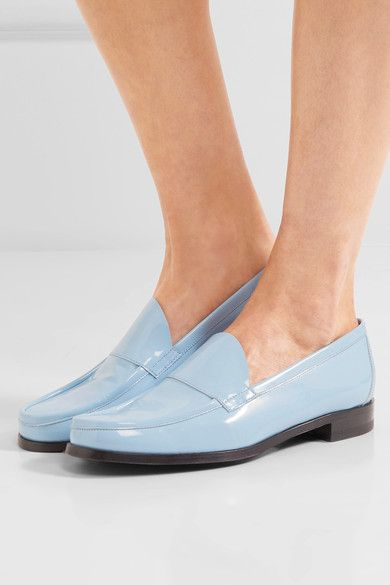 Pierre Hardy - Hardy Patent-leather Loafers - Light blue - FR