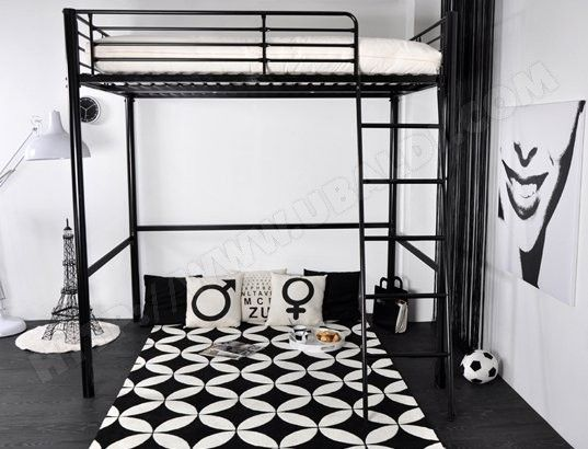 best 25 lit mezzanine pas cher ideas on pinterest lit en bois moderne lit mezzanine palette. Black Bedroom Furniture Sets. Home Design Ideas
