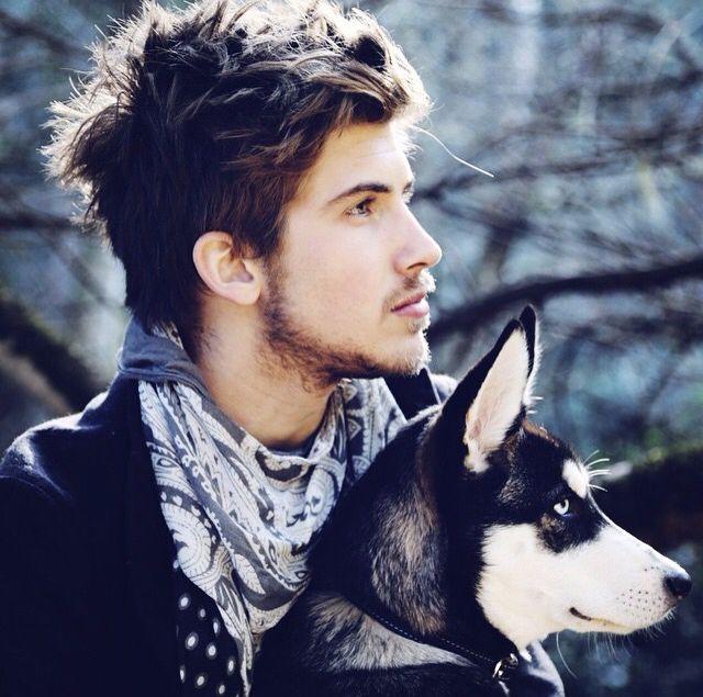Joey Graceffa and Wolf