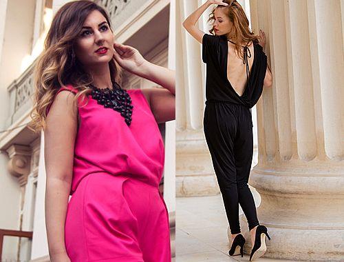 Kombinezon damski - eleganckie stylizacje, eleganckie kombinezony, kombinezon wieczorowy