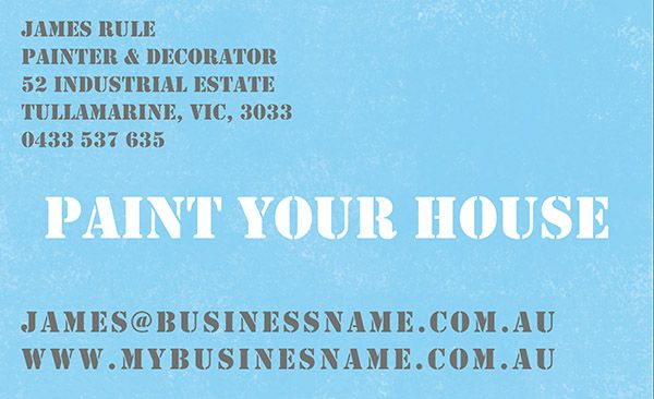 Painting-blue http://cardsandinvites.com.au/business-cards/ online convenience, quality printing & personal service