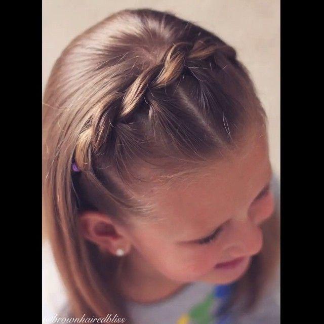 Hair Styles Ideas : V I D E O • Pull Through Braid Headband • This is my little girls favorite h…