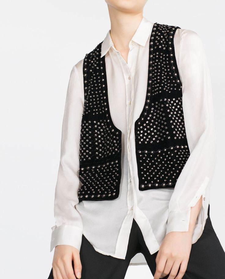Image 3 of EMBROIDERED WAISTCOAT from Zara