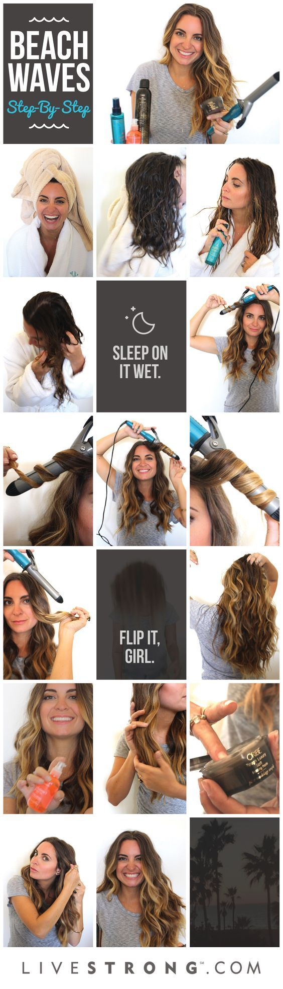 how to get heatless beach waves for short hair