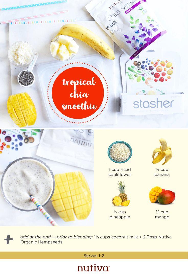 4 Simple Smoothie Prep Recipes #smoothie #recipes #chia