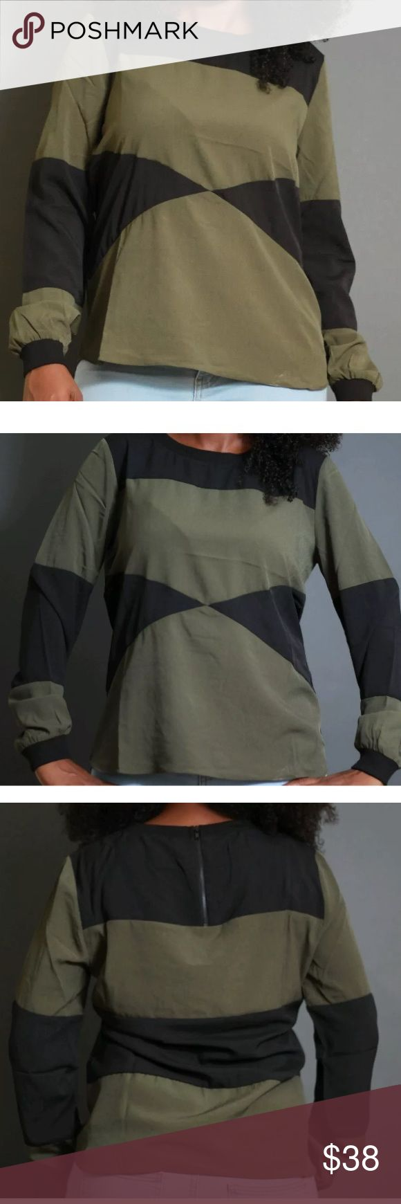 Walter Baker Fashion Long Sleeve Top This Walter Baker top has a very trendy and hip look. The large geometric print accentuates it's simple and sophisticated style. This is great all-season top. Tops Blouses