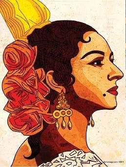 Dibujos de Sevillanas   detalle flor de la zarzamora, pues es bonita, oye!)