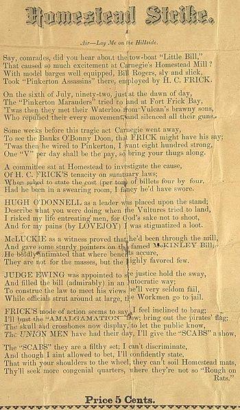 Homestead Strike - July 6, 1892