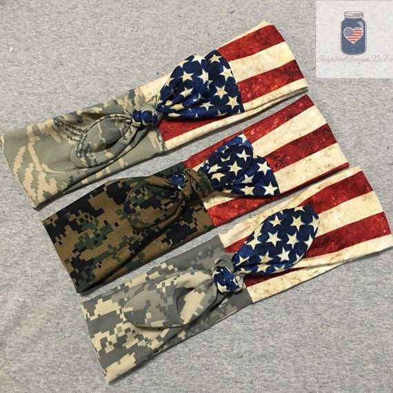 Hey, I found this really awesome Etsy listing at https://www.etsy.com/listing/234278016/military-camo-flag-tie-headband-army