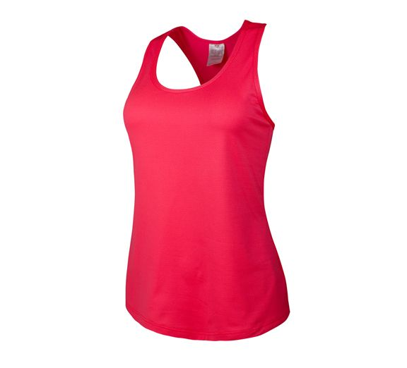 Running Bare Bionic Action Back Tank, eye popping red! Just $47.95 from onsport.com.au.